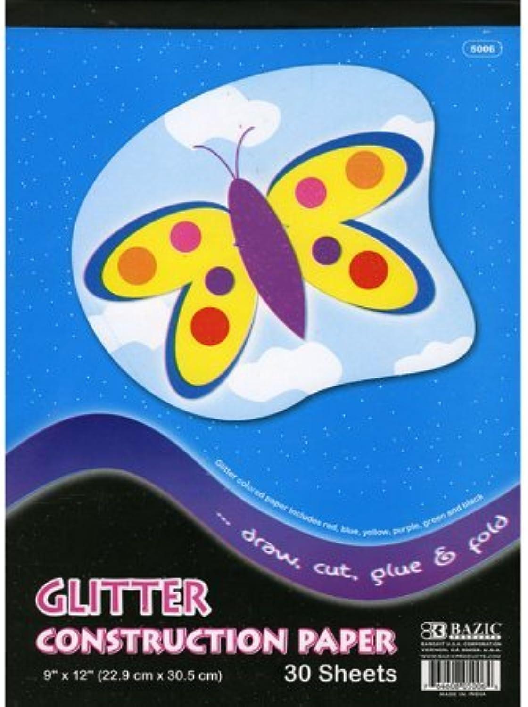 Bazic Glitter Glitter Glitter Construction Paper Pad, 9 x 12 Inch, 30 Sheets (Multi ColGoldt) by Bazic B0141NQ4MO | Feinen Qualität  | Vielfalt  | Günstig  fecd16