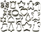 StarPack Christmas Cookie Cutters Set (18 Piece) - Favorite Holiday Shapes including Gingerbread Man, Star and Snowflake Cutter Shapes