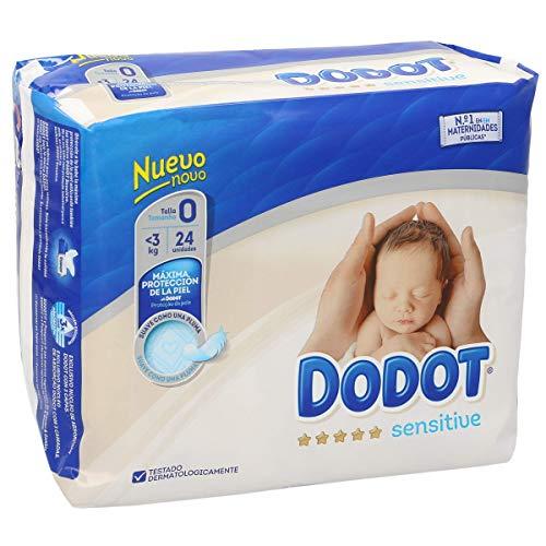 Dodot Sensitive Recién Nacido Talla 0 24 uds.