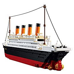 Image: SuSenGo Titanic Building Block Kit 1021 Pieces Bricks | Build a spectacular project at home, compatible with major brands