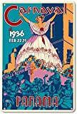 Hslly Panama Carnaval Blechschilder Dekoration Vintage