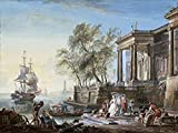 Jean-Baptiste Lallemand – Marine Au Soleil Couchant