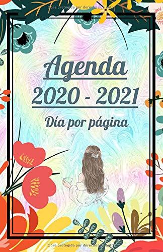Agenda 2020 - 2021 Día por Página: Septiembre - Junio. 330 páginas con Espacio Adicional para Notas, Contactos y Contraseñas. Diseñada para Mujeres y ... pequeño con detalles de los años y meses.