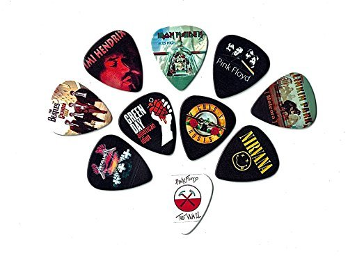 Legendary Bands Guitar Picks (10 medium picks in a packet)(For Music Lovers)