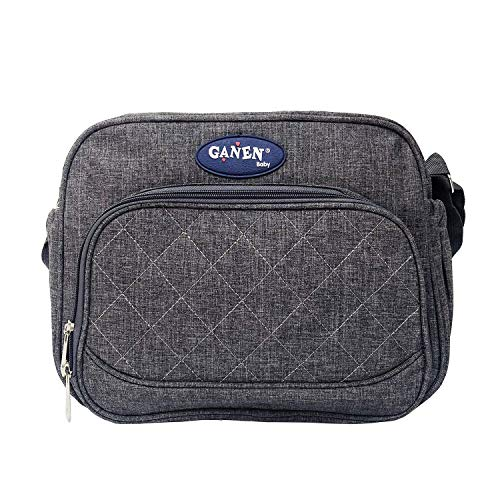 Small Shoulder Crossbody Diaper Bag, Classic Messenger Style Carry on Bag, Lightweight Handy Quick Trip On the Go Bag