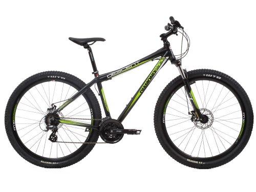 Diamondback Men's Descent Mountain Bike - Black and Green, 16 Inch