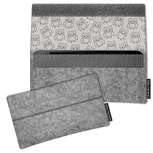 SIMON PIKE Hülle Tasche kompatibel mit Samsung Galaxy S8 + Duos   Filztasche Newyork in 11 grau aus Filz (echtem Wollfilz) Handyhülle