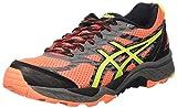Asics Gel-Fujitrabuco 5, Zapatillas de Correr Mujer, Naranja (Flash Coral/Safety Yellow/Black), 37 EU