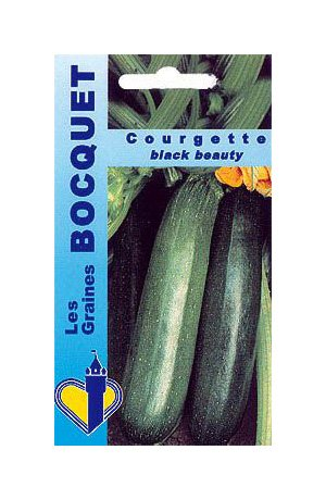 Les Graines Bocquet - Graines De Courgette Black Beauty - Graines Potagères À Semer - Sachet De 5Grammes