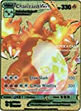 Charizard Vmax Gold Metal Custom Pokémon Card - TCG CCG (Replica)