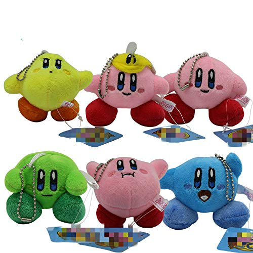 changshuo Juguete de Peluche 6pcs 7cm Cute Kirby Plush Toys