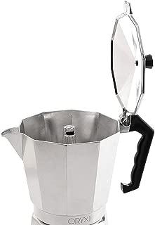 Vitrocer/ámica y Fog/ón WeCook 30109 Cafetera Italiana Aluminio Inducci/ón negro Libre de BPA 9 tazas
