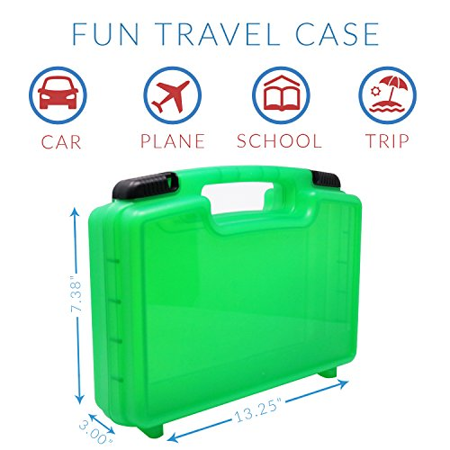 Life Made Better Carrying Organizer Case, Compatible with Magformers and Magna Tiles, Playset Organizer (Green)