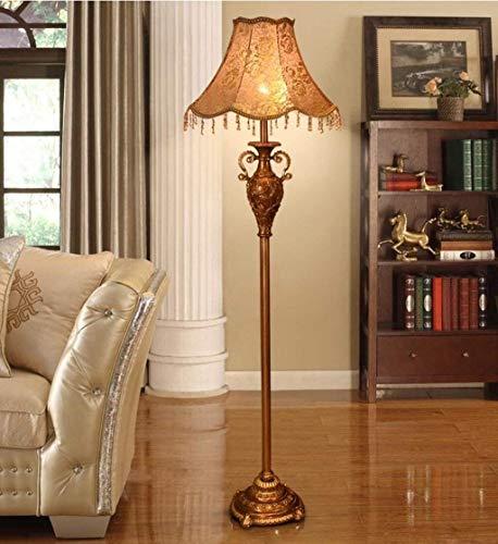 Wohnzimmer Retro Kupfer Vertikale Art Grundlampe im europäischen Stil Harz Stehleuchte Mode Schlafzimmer Beleuchtung Dekorative Standard Leucht