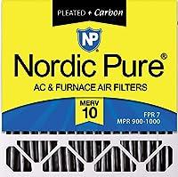 Nordic Pure 20x20x5 MERV 10 Plusカーボンハニーウェル/レノックス交換用AC炉エアフィルター 4個パック