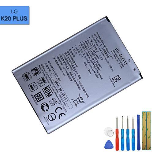 E-yiviil BL-46G1F - Batería de Repuesto Compatible con LG K10 2017 K121K K121L K121S M250N K20 Plus con Herramientas