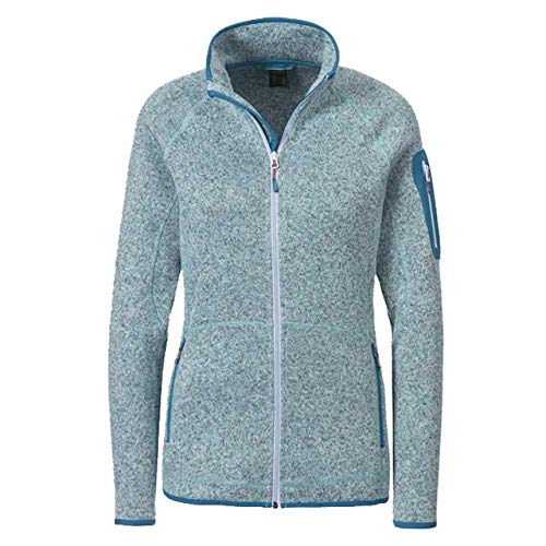 McKINLEY Damen Skeena Unter Veste Jacke, Melange/Turquoise, FR : L (Taille Fabricant : 42)