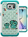S7 Edge Case, MagicSky [Shock Absorption] Studded Rhinestone Bling Hybrid Dual Layer Armor Defender Protective Case Cover for Samsung Galaxy S7 Edge (Sleeping Owl)