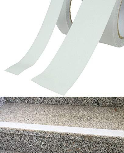 5M Anti-Rutschband | stark rutschhemmend | Selbstklebend | zuschneidbar zu Anti-Rutschstreifen (Transparent) 25mm oder 50mm breit (25mm breite)