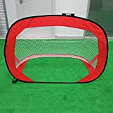 Tuuertge Soccer Goal Pop up Foldable Football Goal Multifunctional Simple Portable Outdoor Children's Sports Goal Soccer Goal Backyard for Kids (Color : Red, Size : One Size)