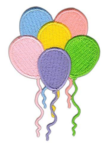 Luftballons Bunt Aufnäher Bügelbild Größe 7,9 x 5,3 cm