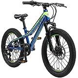 BIKESTAR Bicicleta de montaña de Aluminio Bicicleta Juvenil 20 Pulgadas de 6 a 9 años   Cambio Shimano de 7 velocidades, Freno de Disco, Horquilla de suspensión   niños Bicicleta