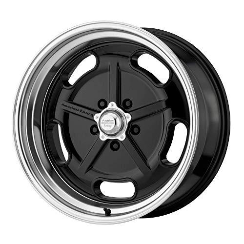 American Racing Salt Custom Wheel - VN511 Flat Gloss Black with Diamond Cut Lip Rims - 17
