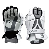 Epoch iD High Performance Lightweight Lacrosse Glove for Attack, Middie and Defensemen, Small, White