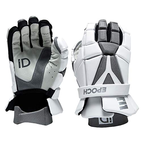 Epoch iD High Performance Lightweight Lacrosse Glove for Attack, Middie and Defensemen, Large, White