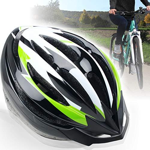 Fahrradhelm für Erwachsene (Unisex) mit abnehmbarem Visor (M, GRÜN)