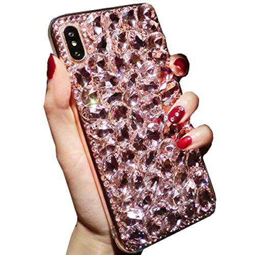 Beautyfull - Carcasa para Samsung Galaxy J6+ 2018 J6Plus/Prime J610, diseño de cristales brillantes, color rosa