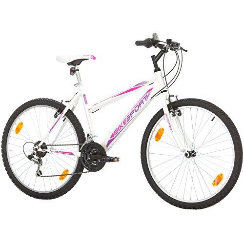 26 Pulgadas Bikesport AVDENTURE Bicicleta para Mujer Mountain Bike, 18 velocidades Shimano (L / 48 cm)