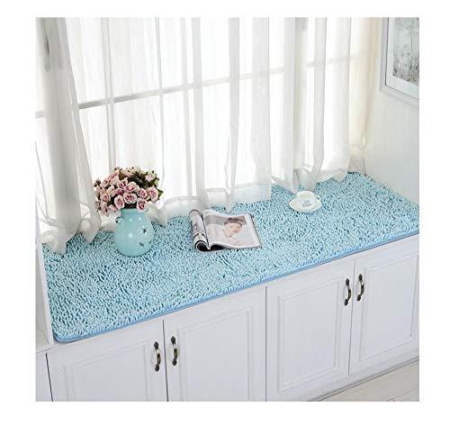 Yanxinejoy fleece kussen op vensterbank, panorama-raamkussens, tatami-mat, voor slaapkamer, vier seizoenen, balkon, modern, eenvoudig, antislip 160 * 230CM 3 Paquete(Cuero/flor)