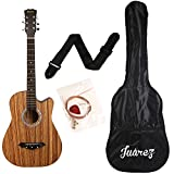 Juârez JRZ38C/ZEB 6 Strings Acoustic Guitar 38 Inch Cutaway, Right Handed, Zebrawood with Bag,...