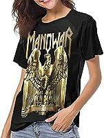 マノウォー野球Tシャツ女性の夏のレジャーシャツファッション半袖Tシャツ-Large
