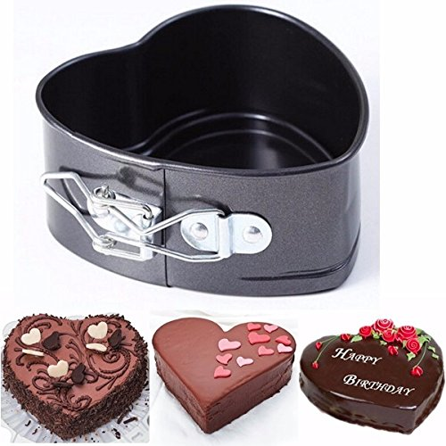 INOVEY anti-aanbak RVS Cake Pan Hartvorm Kaas Brood Jelly Pudding Muffin Mold Baking Tool