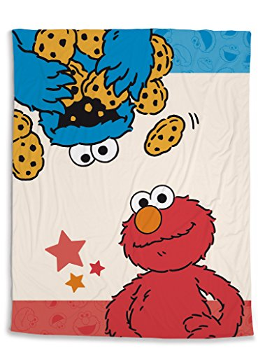 NICI 41978 Sesamstraße Fleecedecke Krümelmonster und Elmo, Rot