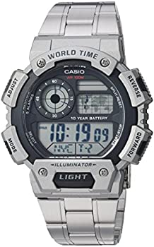 Casio Men's Classic Quartz Watch with Stainless-Steel Strap