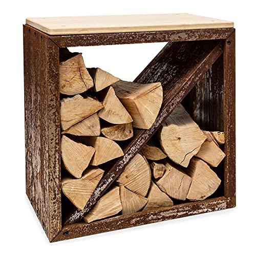 Blumfeldt Firebowl Kindlewood - Banco con Almacenamiento para leña o carbón,...