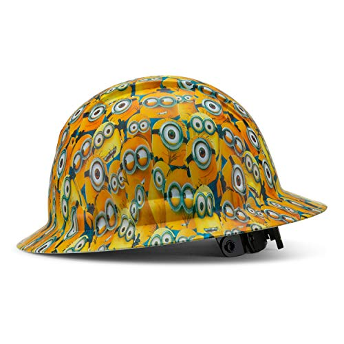 Full Brim Pyramex Hard Hat, Minions Design Safety Helmet 4Pt, By Acerpal