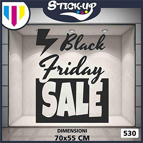 Kit Adesivi Black Friday Sale- Varie Dimensioni Vetrofania Bar, Ristorante, Abbigliamento - Sign Wall Sticker Adesivo Murale Adesivo Art Stickers Decal (1 Pezzo 70x55cm)