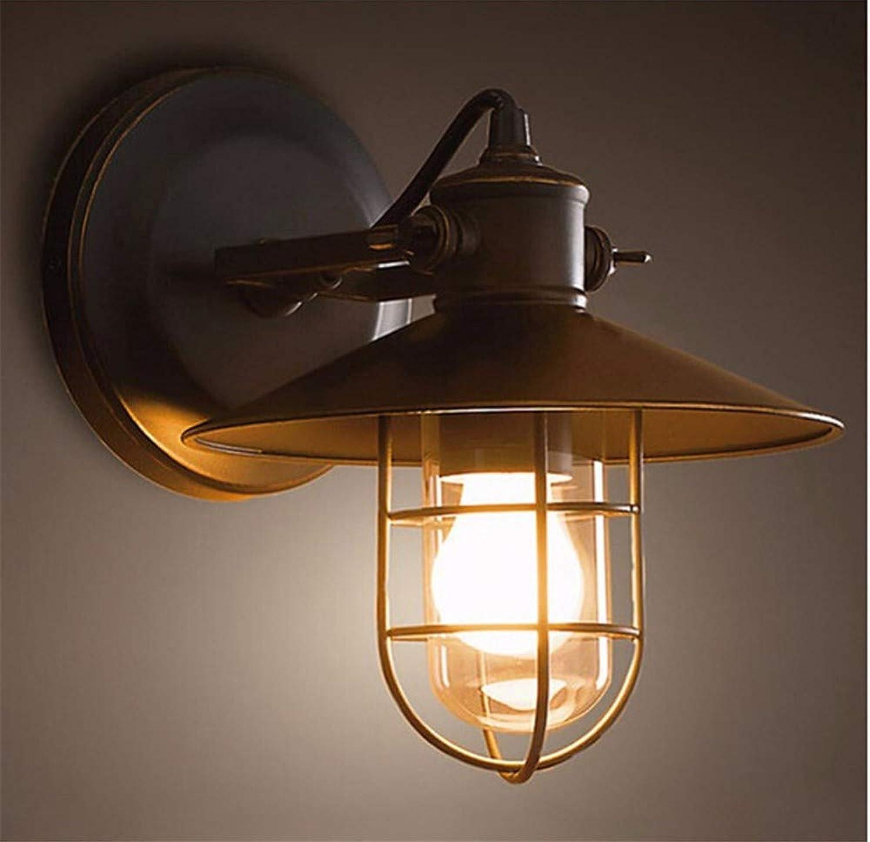 HZHUR Wandleuchte Schlafzimmer Wohnzimmer Flur bad Wandlampe Retro-modernen Wandbeleuchtung Schwarzes Schmiedeeisen