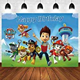 Cartoon Dogs Backdrop for Kids Birthday Party Background Banner for Decor Supplies Cute Dog Theme Photography Backdrops Baby Shower Happy Birthday Party Decor Backdrop Photo Studio Props