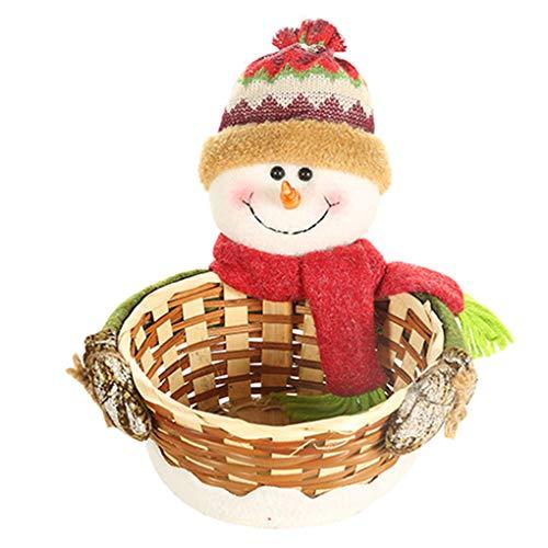 Weilifang Titular de Navidad de Almacenamiento Caramelo Cesta Galletas Alimentación Animal de Santa Claus muñeco de Nieve de Navidad de Frutas Dulces de contenedores