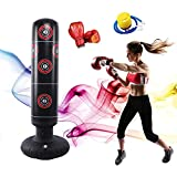 ZARINI 63Inch Freestanding Punching Bag for Kids, Kids Punching Bag with Stand, MMA (Include Air Pump Children Boxing Gloves)