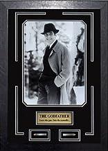 Frez Artwork LLC The Godfather Movie Memorabilia Al Pacino as Don Michael Corleone Framed Movie Photo, Plate, Bullets Cust...