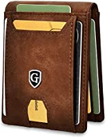 GenTo® Atlanta Men's Wallet with Money Clip - Card Holder - Men's Wallet with RFID Protection Including Gift Box - Smart...