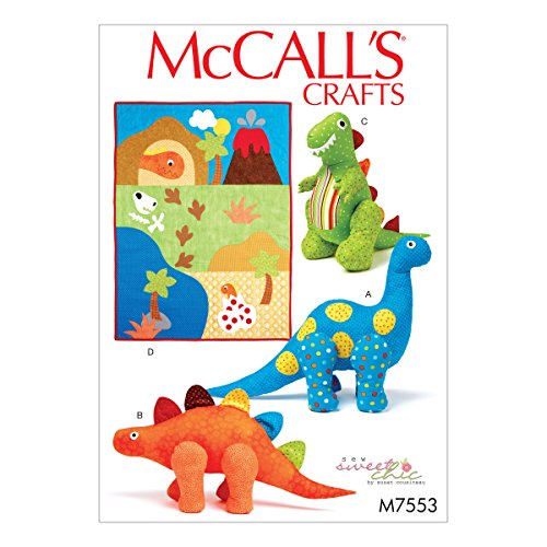 McCall 's Patterns McCall Muster 7553 OS, Quilt und Dinosaurier Stofftiere, Multi/Farbe