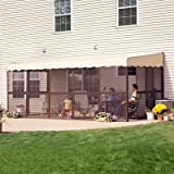 PatioMate 11-Panel Screen Enclosure Model 19165 Brown with Almond Roof...