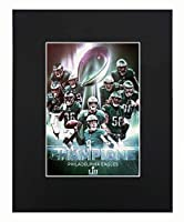 XQArtStudio Philadelphia Eagles NFL 2018 Super Bowl Champions Nick Foles Football Team Art Print Picture Poster 8x10 Matted Artworks Print Printed Picture Photograph Gift Wall Decor Display